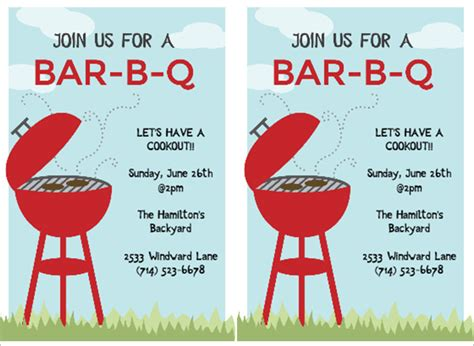 free templates for cookout invitations 53 bbq invitation templates free premium templates