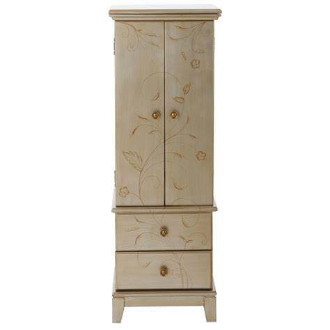 cream armoire home decorators collection chirp black jewelry armoire