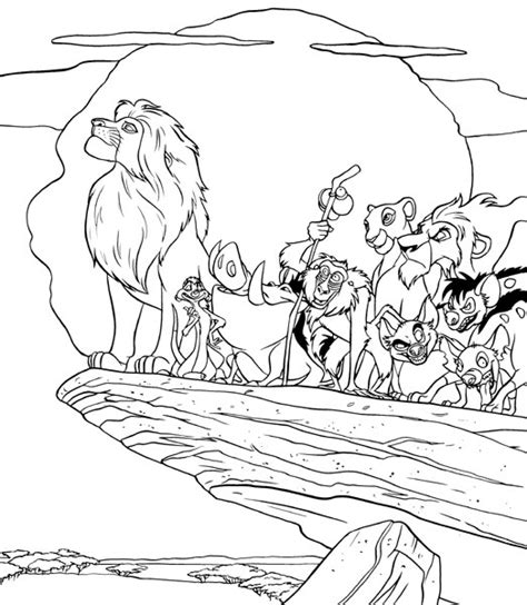lion pride coloring pages lion king coloring pages