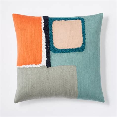 Lite Pillows by Crewel Offset Color Blocks Pillow Cover Light Pool