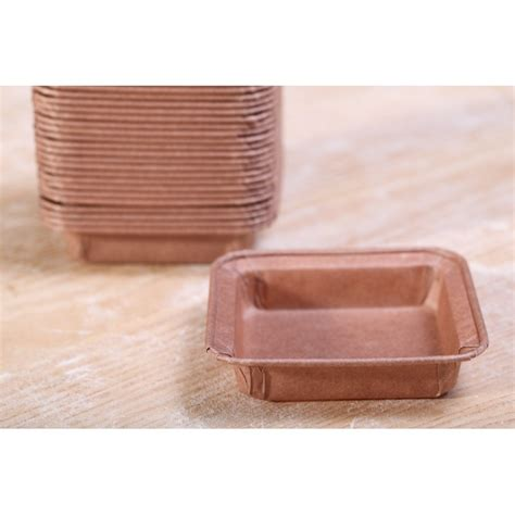 Paper Mold - paper pie molds square 7 cm weekend bakery