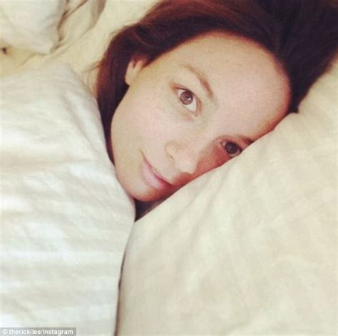i laid in bed ricki lee coulter posts makeup free snap daily mail online