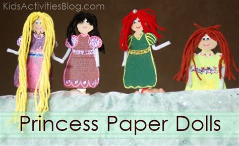 How To Make A Doll Using Paper - be a princess make paper dolls