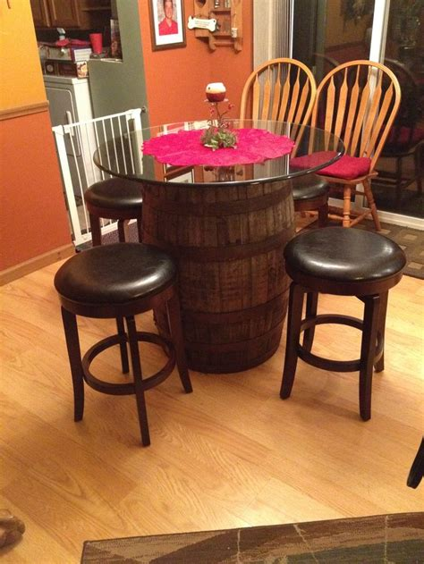 wine barrel pub table wine barrel pub table diy project my