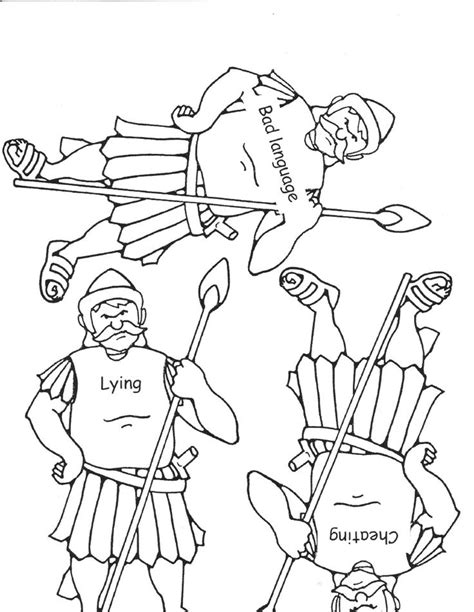 preschool coloring pages david and goliath free and goliath coloring pages