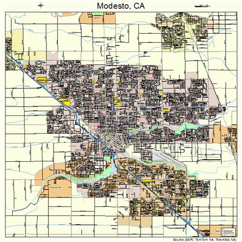 modesto california map modesto california map 0648354