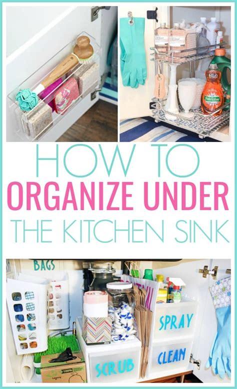 15 genius the kitchen sink organization ideas