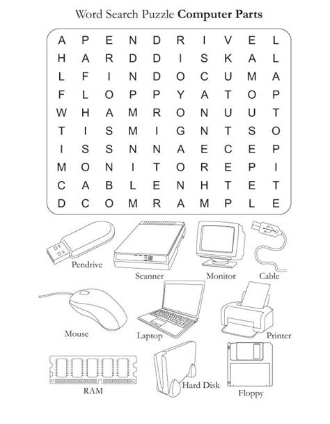 parts of the computer worksheets computer parts