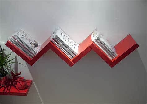 do the office shuffle red zig zag bookshelf red candy