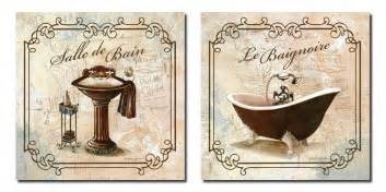 Beautiful french vintage bathroom art prints