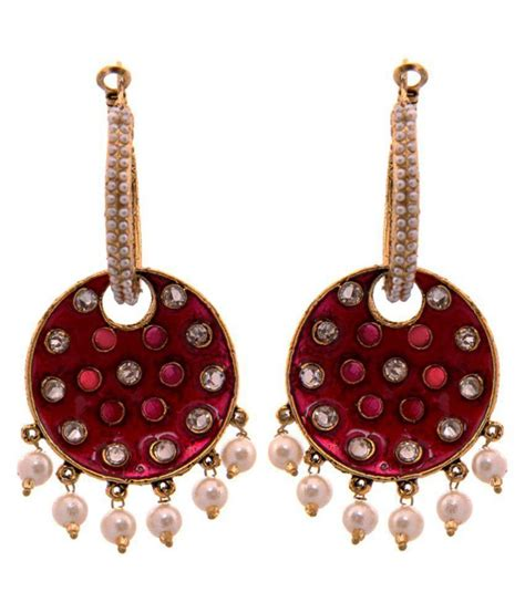 pink earrings celebrity kaizer jewelry bollywood celebrity inspired pink white
