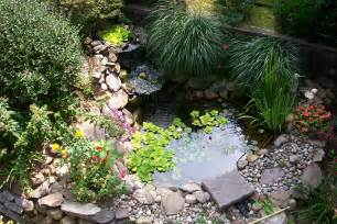 Small Patio Garden Design Ideas Small Backyard Pond Surrounded By With Waterfall Plus Various Plants And Flowers Ideas