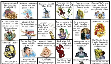 harry potter printable board games 6 best images of drinking printable board games harry