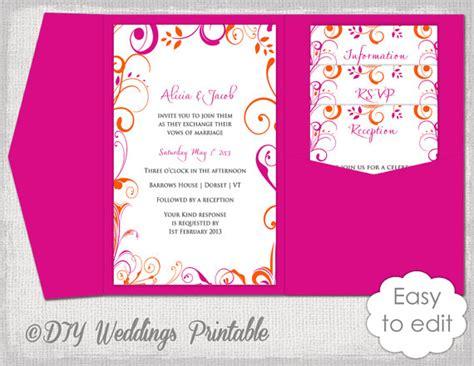 free sle pocket wedding invitations pocket wedding invitation template diy pocketfold wedding