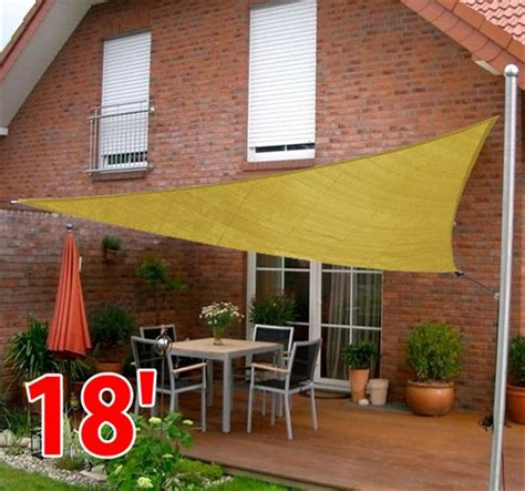 garden awnings and sails outsunny 18 triangle patio pool sun shade sail canopy