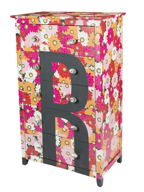 Decoupage Furniture With Wrapping Paper - how to monogram a dresser hgtv