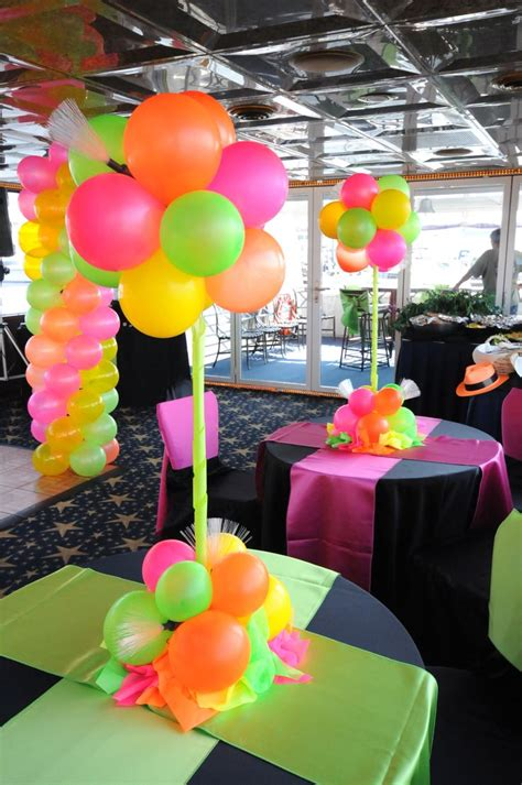 80s Theme Decorations by 80 S Theme Setup Neon 90 S Theme