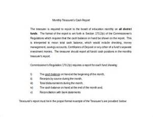 Treasurer Report Template Non Profit by Treasurer Report Template 10 Free Sle Exle