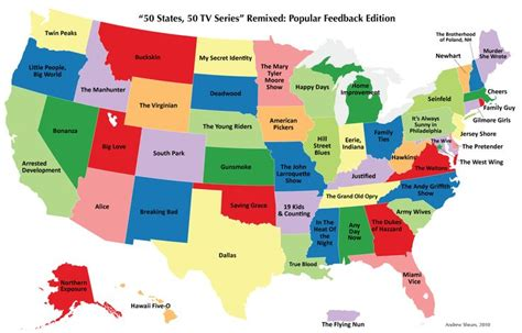 maps united states states 50 states 50 tv series the most popular television