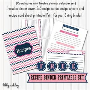 Free Recipe Templates For Binders by Free Recipe Binder Printables Templates Printables