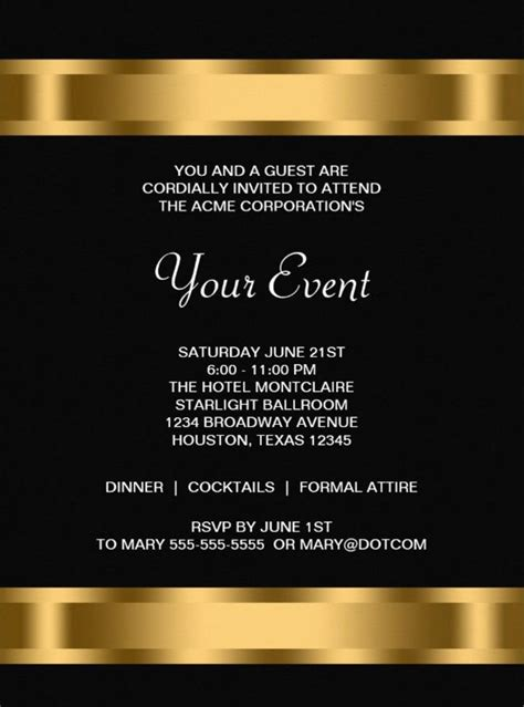 event invitation template 15 printable corporate invitation templates psd ai
