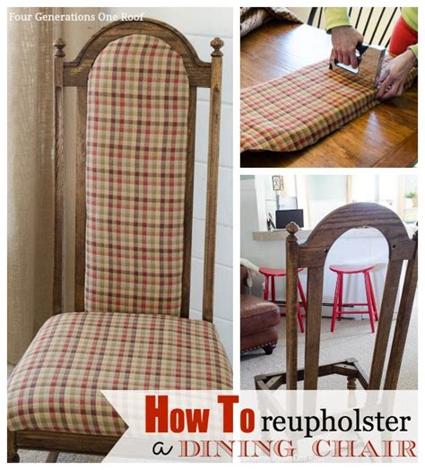 dining chair reupholstering diy crafts
