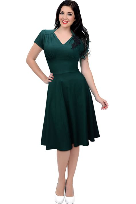 Skirted Dresses by Kettymore Halter Style V Neck Sleeves Skirt