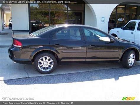 2005 chrysler sebring limited 2005 chrysler sebring limited sedan in brilliant black