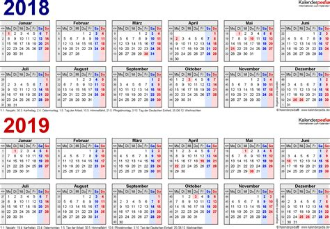 Kalender 2018 Nrw Rosenmontag Zweijahreskalender 2018 2019 Als Word Vorlagen Zum