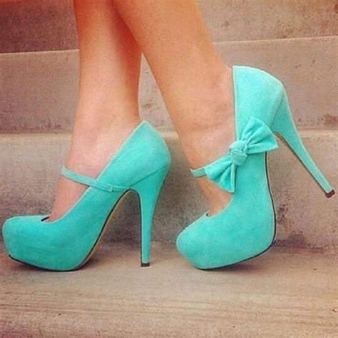 womens shoes high heels stiletto pumps maryjane teal bow