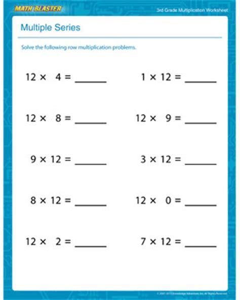 multiple series free printable multiplication worksheet