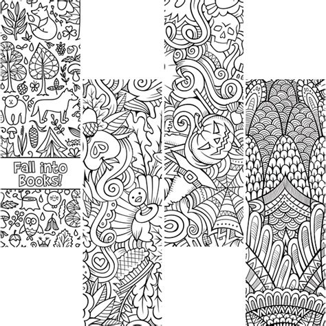 winter bookmarks coloring page demco com search results