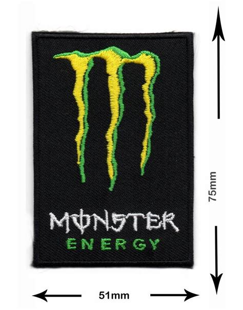 Monster Energy Yellow Sticker by Monster Energy Drink M Yellow Green Patch Keychains