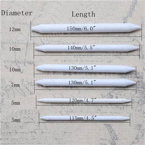 sketchbook pro blending tool 6pcs blending smudge tortillon set sketch 6 sizes drawing