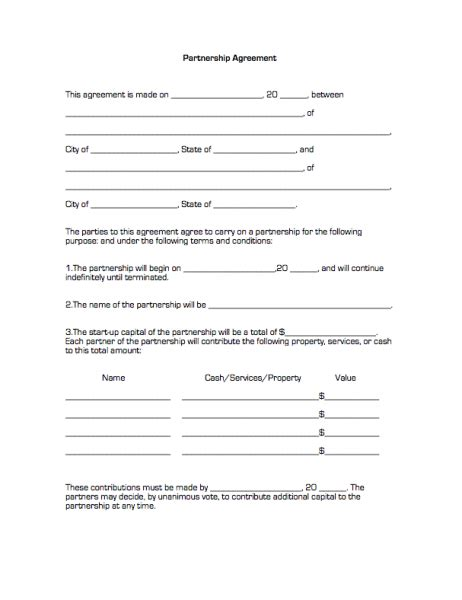 business partnership agreement template printable sle partnership agreement form real estate
