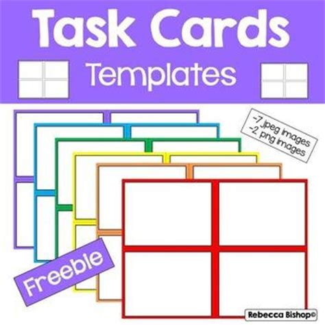 task card template pdf task card templates by bishop free task