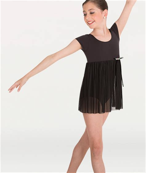 Sleeve Skirt Baby Leotard wrappers baby doll leotard with pleated skirt