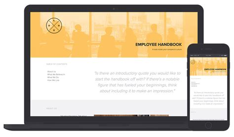 employee handbook template by xtensio it s free