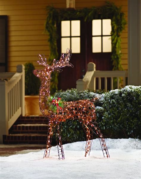 home depot outdoor christmas decorations home accents animated grapevine deer 60 inch outdoor decorations other