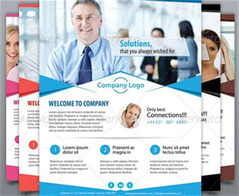 free business promotion flyer psd template