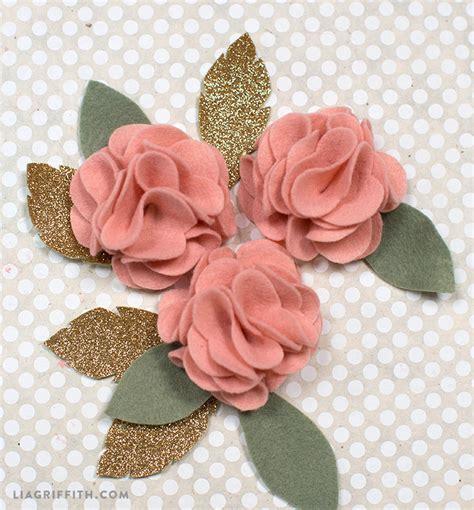 felt paper flower pattern diy felt flower poms lia griffith