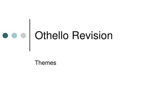 themes in othello ppt ppt othello revision powerpoint presentation id 3509919