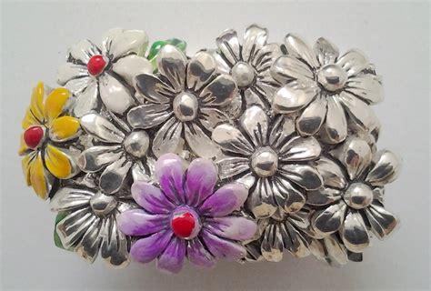 fiori in argento cestino di fiori in laminato argento dipinto a mano