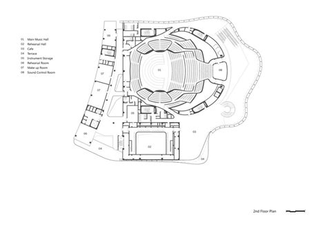 concert hall floor plan china philharmonic hall beijing building by mad architects