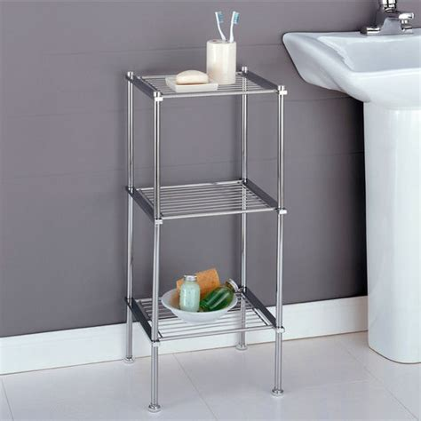 three tier bathroom shelf bathroom storage metro collection 3 tier shelf by neu