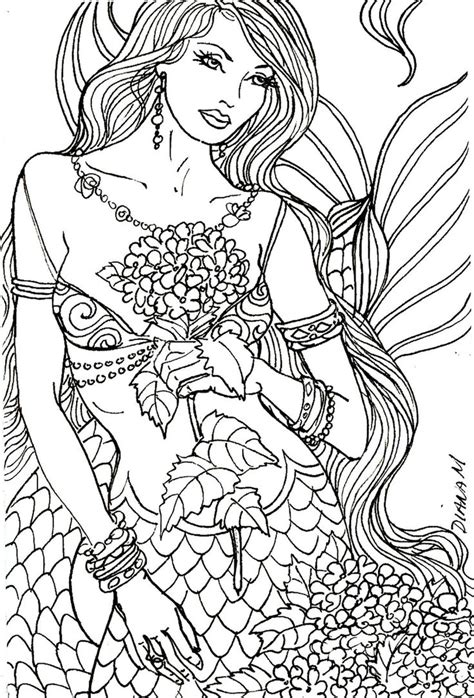 mermaid coloring pages for adults 39 best images about artist diane s martin