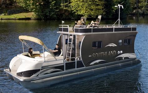 house pontoon boats southland boat present the hrv liberty half boat half house new models 2011