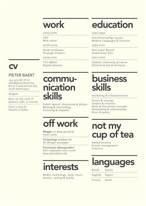 Resume Design Ideas 27 Minimalist Exles Of R 233 Sum 233 Designs Designbump
