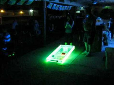 light up corn board hole sets cosmic 174 debut melissa s pub grub youtube