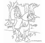 In This Coloring Picture Belle Is On Philippes Toward To The Beasts